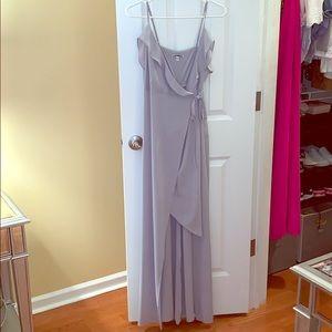 Light grey wrap maxi dress from Express